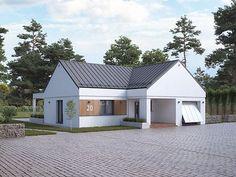 Cytrus 2 projekt domu - Jesteśmy AUTOREM - DOMY w Stylu Tiny Apartments, Interior S, Future House, House Plans, Outdoor Structures, House Design, House Ideas, House Floor Plans, Architecture Design