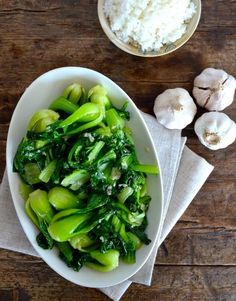 Easy cooking for Garlicky Baby Bok Choy . Not sure what the sugar is for though I don't add it.
