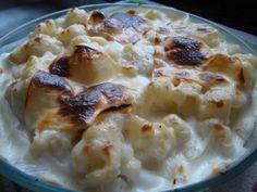Coliflor con Bechamel. Receta (recipe, recipe), comida (food, food)