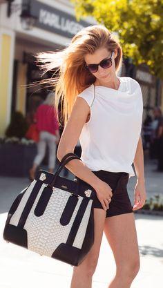 Business Outfit von der Bloggerin Pandarte - Tasche von Bally