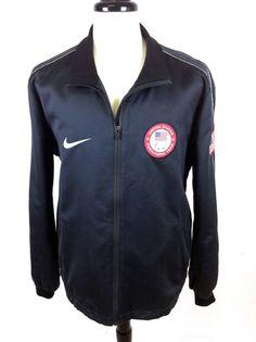 Nike Jacket Olympic Navy NSW Team USA Full Zip Italy Zip Up Athletic Track Mens | eBay