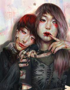 Lesbo Halloween suku puoli