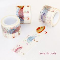 Washi Tape paraguas coloridos