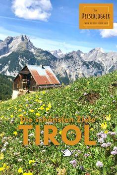 Entdecke die schönsten #Tirol Reiseziele ✔️ Wasserfälle, urige Hütten, schöne Bergseen Tirol ✔️ tolle Ecken in Tirol, die man sehen sollte ✔️