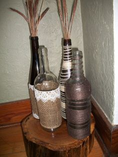 Decorative Wine Bottles by QuaintBeginnings on Etsy, $10.00