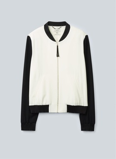 BABATON ROBINSON JACKET - A sophisticated spin on the classic baseball jacket, tailored in satin-back crepe from Japan