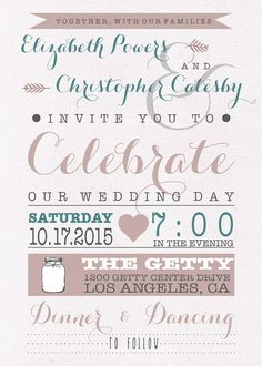 DIY Printable Hochzeitseinladung PDF von LizzyPowersDesign auf Etsy