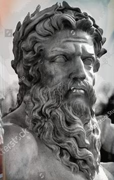 Greek And Roman Mythology, Greek Gods, Poseidon Tattoo, Lion Head Tattoos, Greece Art, Statue Tattoo, Full Sleeve Tattoo Design, Dark Creatures, Greek Statues