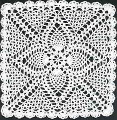 free doily crochet pattern http://www.jessica-tromp.nl/crochet/pineapple%20square%20doily%20crochet%20pattern.htm
