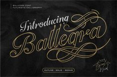 Ballegra Solid & Outline Script By typelinestudio Creative Fonts, Cool Fonts, New Fonts, Awesome Fonts, Font Design, Design Typography, Graphic Design, Design Art, Alphabet