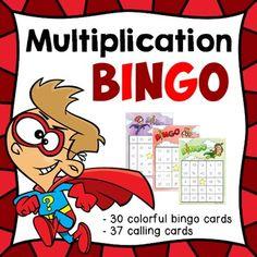 Dollar Deal for 48 hrs. Multiplication Bingo (30 unique co