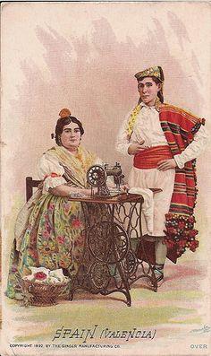 Singer Sewing Machine trade card c. 1892