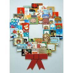 Xmas Card Wreath