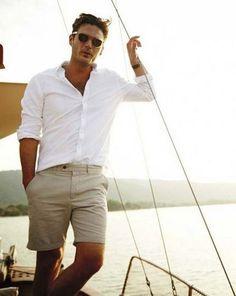 Frühsommer Herren Outfit Inspiration Galerie - Men's - Mode Summer Outfits Men, Short Outfits, Summer Men, Casual Summer, Outfit Summer, Summer Beach, Summer Shorts, Summer Ideas, Casual Outfits