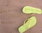 Custom Sand Imprint Flip Flops. Your Design. how fun!