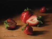 """""""Design with Strawberries""""  6x8"""