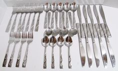Oneida Flatware 34 Mixed Pieces - Tuscany Pattern - Dinner Knives Forks Spoons  #Oneida  ..... Visit all of our online locations ..... (www.stores.eBay.com/variety-on-a-budget) ..... (www.amazon.com/shops/Variety-on-a-Budget) ..... (www.etsy.com/shop/VarietyonaBudget) ..... (www.bonanza.com/booths/VarietyonaBudget ) .....(www.facebook.com/VarietyonaBudgetOnlineShopping)