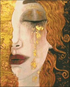 Gustav Klimt, Klimt Art, Art And Illustration, Art Sketches, Art Drawings, Famous Art Paintings, Famous Artwork, Face Paintings, Tears Art