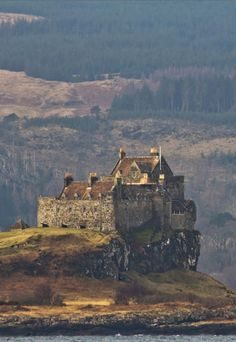 Duart Castle, Isle of Mull, Scotland. Oh I am looking forward to our trip to scotland in may of Scotland Castles, Scottish Castles, Scotland Uk, Oh The Places You'll Go, Places To Travel, Places To Visit, Travel Destinations, Beautiful Castles, Beautiful Places