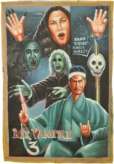 A Ghanaian poster for Mr. Vampire 3.
