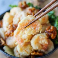 Honey Walnut Shrimp by damndelicious: The most expensive/popular dish at Chinese restaurants that you can make right at home on a tight budget! #Shrimp #Honey #Walnut #Budget