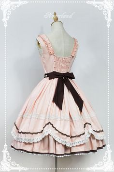 Neverland Lolita -Whisky Heart Chocolate- Lolita Jumper Dress
