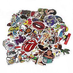 60 stickers Skateboard Vintage Vinyl Sticker Laptop Luggage Car Decals mix