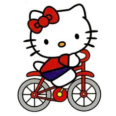 Amazon.com : Hello Kitty riding bike bicycle Iron On Transfer for T-Shirt ~ Sanrio : Other Products : Everything Else
