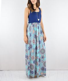 This Navy Floral Maxi Dress is perfect! #zulilyfinds
