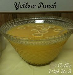 Yellow Punch Recipe & Party / Celebrating a anniversary in yellow #parties #recipes