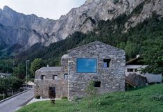 The Maison Roduit project was completed in 2005 by the Sion based studio Savioz Fabrizzi Architecte. This project included the renovation of a rural house from Architecture Details, Interior Architecture, Interior Design, Natural Stone Wall, Natural Stones, Rural House, Rustic Home Design, Mountain Homes, Mountain View