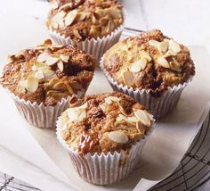 Pear and toffee muffins    http://www.bbcgoodfood.com/recipes/8087/pear-and-toffee-muffins
