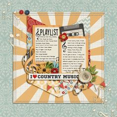 All products can be found at Sweetshoppedesigns.com  A Little Bit Country by Kristin Cronin-Barrow  Paper Clips: Chevrons by Libby Pritchett...