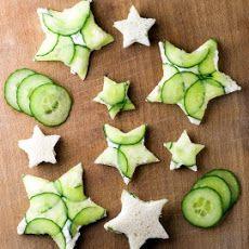 Cucumber Goat Cheese Sandwiches Recipe (twinkle twinkle little star)