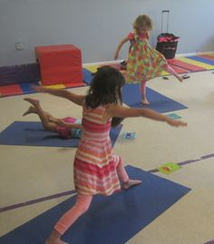 A Yoga Obstacle Course is a fun easy way to keep kids active and engaged in yoga!