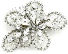 Nina 'Bendable' Flower Crystal Hair Comb