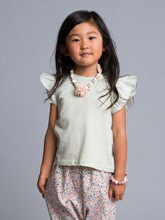 Oh..Ho!!!   So cute!!  Mint Cotton Top #mygirldress  Www.mygirldress.com
