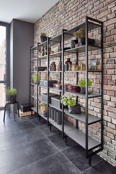 Modern Kitchens: ✓ premium workmanship ✓ cutting-edge design ✓ innovative use of space ✓ variable modules ✓ - Let us inspire you! Wardrobe Furniture, Apartment Design, Wall Shelves, Shelf, Industrial Furniture, Home Kitchens, Modern Kitchens, Sweet Home, Home Decor