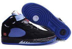 http://www.jordannew.com/mens-nike-air-jordan-5-1-shoes-black-blue-white-online.html MEN'S NIKE AIR JORDAN 5 & 1 SHOES BLACK/BLUE/WHITE ONLINE Only $95.85 , Free Shipping!