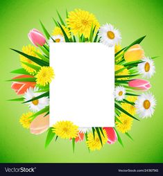 Spring or summer banner background template with vector image on VectorStock Blue Texture Background, Flower Background Wallpaper, Flower Backgrounds, Beautiful Art Pictures, Summer Banner, Background Templates, Vector Free, Pastel, Bullet Journal
