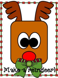 Make a Reindeer Freebie - - Pinned by @PediaStaff – Please visit http://ht.ly/63sNt for all (hundreds of) our pediatric therapy pins