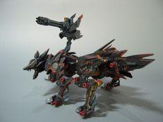 zoikino! - 改造ゾイド: SHADOW FOX Ver.紙白 God Of War, Custom Paint, Legos, Gundam, Techno, Statues, Character Art, Robot, Sci Fi