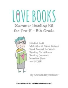 Designed to help keep students motivated to keep reading all summer long! Directions on how to use each chart is included in easy to read fo...