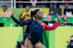 Simone Biles competing on Floor at the 2016 Rio Olympics