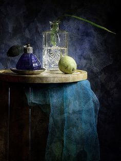 Still life indigo blue