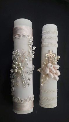 By Renee's Candles – Wedding Candles Ideas Unity Candle, Candle Set, Baptism Candle, Bridal Gown Styles, Baptism Party, Homemade Candles, Beautiful Candles, Candels, Irish Wedding