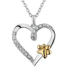 ASPCA(R) Tender Voices(R) Two-Tone Diamond Heart Paw Pendant 1/15ctw ASPCA® Tender Voices™. $129.95