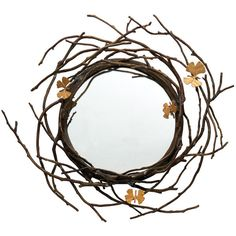 Michael Aram Butterfly Ginkgo Mirror (€2.075) ❤ liked on Polyvore featuring home, home decor, mirrors, mirror, decor, borders, frames, picture frame, brass mirror and brass home decor