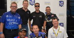 Tommy J JR, Infinite Hero's Director, Spencer Massey, Tony Schumacher, Antron Brown, Driver of the Infinite Hero's Funny Car Jack Beckman & Jeg Coughlen
