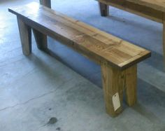 Reserved for Julie... Reserved....Bench, wood bench, reclaimed wood bench, farmstyle bench, rustic bench, rustic dinning bench on Etsy, $375.00